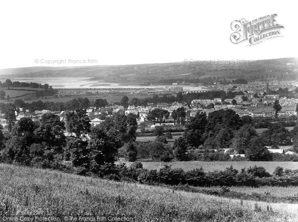Barnstaple, View From Mount Sandford 1929