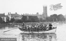 Barnstaple, Viking Boat On The River Taw 1935