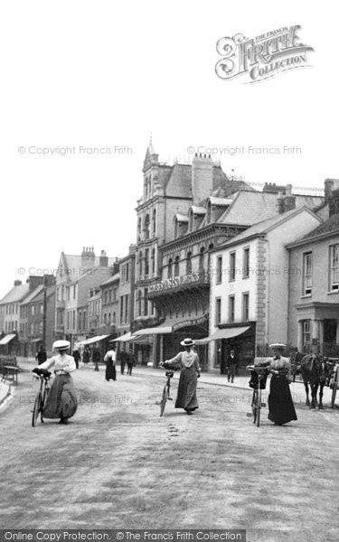 Barnstaple, Women Cyclists, Boutport Street 1906