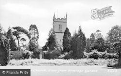 Barnwood, Church From Vicarage Garden c.1955