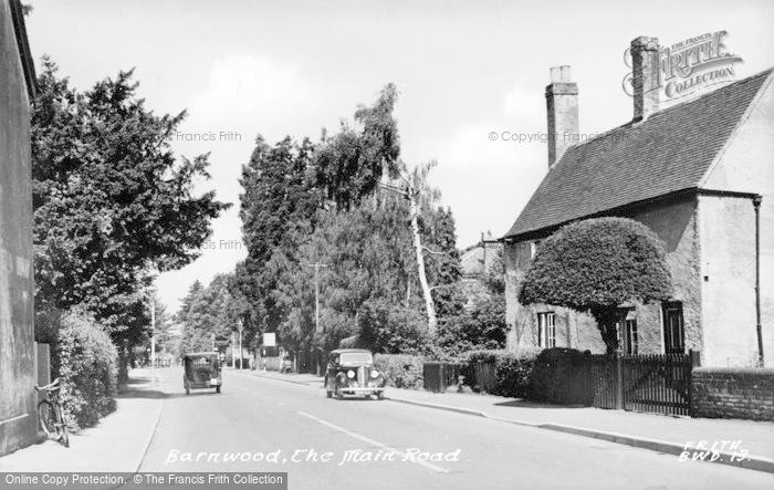 Photo of Barnwood, The Main Road c.1955