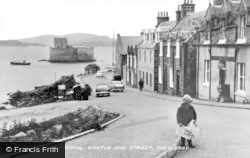 Kismul Castle And Street c.1960, Barra