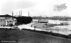Barrow-In-Furness, Ferry Hotel And Ferry 1898, Barrow-In-Furness