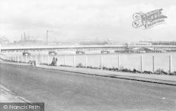 Barrow-In-Furness, Jubilee Bridge From Walney c.1950
