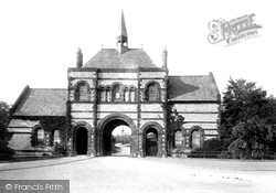 Barrow-In-Furness, The Cemetery Entrance 1895, Barrow-In-Furness