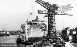 Barrow-In-Furness, The Shipyard, Buccleuch Dock c.1950, Barrow-In-Furness