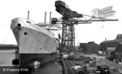 Barrow-In-Furness, The Shipyards c.1960, Barrow-In-Furness
