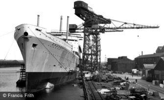 Barrow-in-Furness, the Shipyards c1960