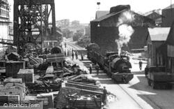 Barrow-In-Furness, Train In The Shipyard, Buccleuch Dock c.1950, Barrow-In-Furness