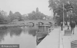 Barrow Upon Soar, The River Soar And Bridge c.1965