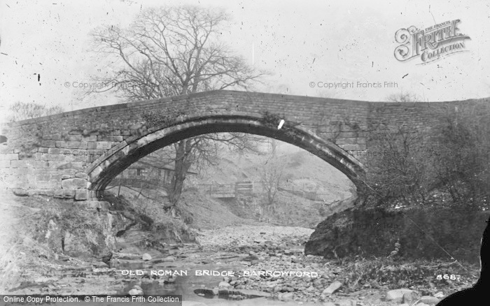 Photo of Barrowford, Old Roman Bridge c.1910