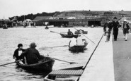 Barry, Boating On Cold Knap Marine Lake c.1931