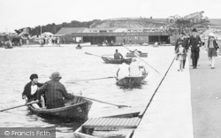 Barry, Boating On Cold Knap Marine Lake c.1931