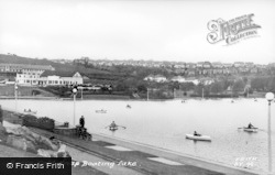 Barry, Cold Knap Boating Lake c.1960