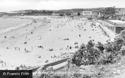 Barry Island, The Beach And Aberthaw In Distance c.1960