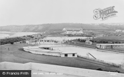 Barry, The Knap, Swimming Pool And Lake c.1960