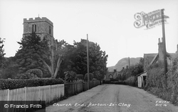 Church Road c.1955, Barton-Le-Clay
