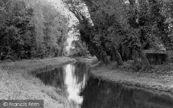 The River Lark c.1955, Barton Mills