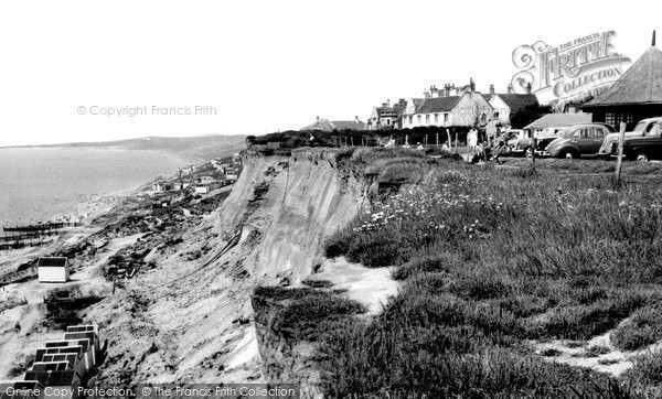 Barton On Sea, The Cliffs c.1960