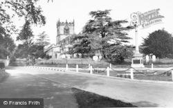 Barton Under Needwood, Memorial And Church c.1955
