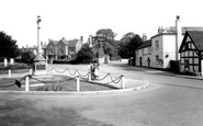 Barton Under Needwood, The Memorial And Main Street c.1955
