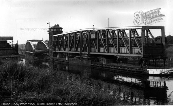 Barton Upon Irwell, The Aqueduct And Road Bridge c.1955