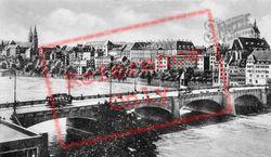Middle Rhine Bridge And Rhine View c.1930, Basel
