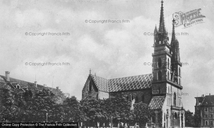 Photo of Basel, The Cathedral c.1930