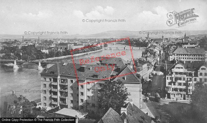 Photo of Basel, The Three Rhine Bridges c.1930