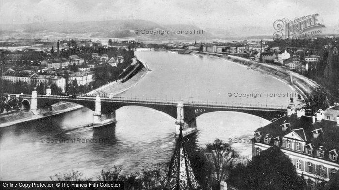 Photo of Basel, Wettsteinbrücke And The Rhine c.1930