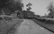 Bashall Eaves, Browsholme Hall, Gates c.1955