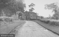 Bashall Eaves, Browsholme Hall, Gates c.1955