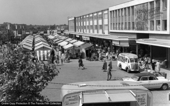 Photo of Basildon, Market Place 1961