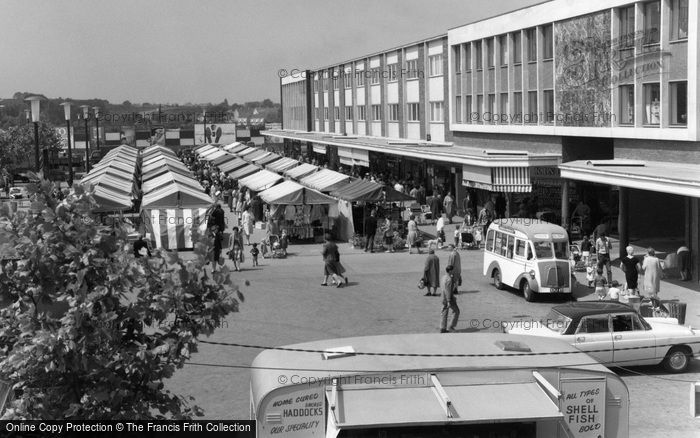 Photo of Basildon, Market Place 1961, ref. B438003