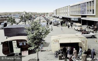 Basildon, Market Place c1960
