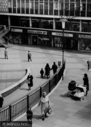 Pedestrians In Town Square c.1965, Basildon