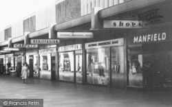 Basildon, Row Of Shops, Town Square c.1965