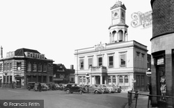Market Place And Town Hall c.1955, Basingstoke