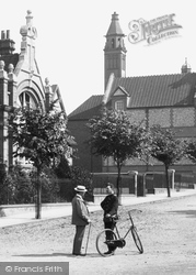 Men Talking In Council Road 1898, Basingstoke