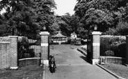 Basingstoke, The War Memorial Park Gates c.1955