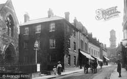 Wote Street And Emmanuel Church c.1900, Basingstoke