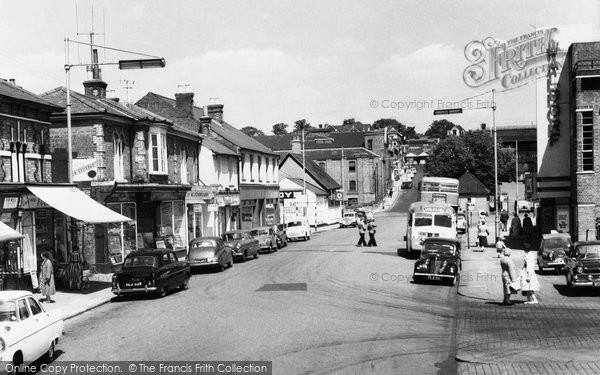 Basingstoke, Wote Street Looking Towards Station Hill c.1960