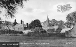 Church And Vicarage c.1955, Baslow