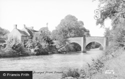 Baslow, Old Bridge From South c.1955