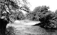 Baslow, the River and Weir c1955