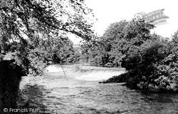 River Derwent And Weir c.1955, Baslow