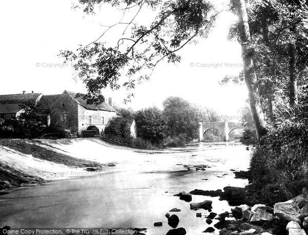 Baslow, the Old Mill c1883