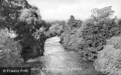 The River Derwent Looking North c.1955, Baslow