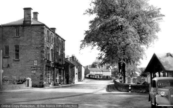 Baslow, the Village c1955