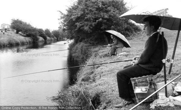 Photo of Bason Bridge, Brue River and Merry Lane c1960